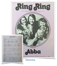 """The most recent sheet music I have added to my collection is Abba's """"Ring Ring""""  #Abba #Agnetha #Frida http://abbafansblog.blogspot.co.uk/2015/07/collection-ring-ring-sheet-music.html"""