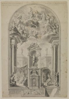 Antonio Villanueva, Study for an altar wall with scenes from life of St John the Baptist, 1780. Drawing, 524 x 356 mm.