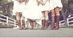 brides with boots!