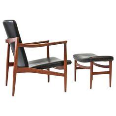 Jacob Kjaer Lounge Chair with Ottoman