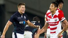 Huw Jones enjoys his Scotland debut in Japan but does not know if he will be available for the autumn internationals. Rugby Men, Scotland, Autumn, Sports, Love, Hs Sports, Fall Season, Fall, Sport