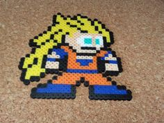 Goku Super Saiyan 3 - Perler Bead Sprite Dragon Ball Z by DCBPerlerSprites