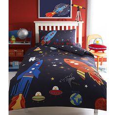 bluezoo Blue rocket ship bed linen set- at Debenhams.com