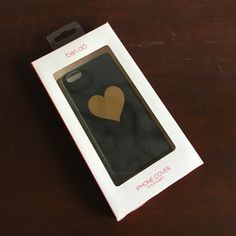 Bando Black and gold heart iPhone 5 case Scratched from daily use slightly. See pics. ban.do Accessories Phone Cases