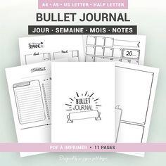 BULLET JOURNAL à imprimer et à personnaliser non daté