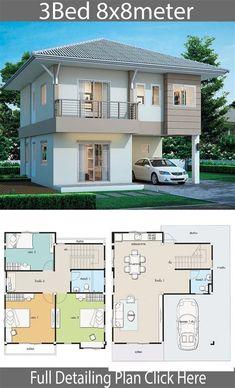 Sims House Plans, Duplex House Plans, Bedroom House Plans, House Floor Plans, 4 Bedroom House Designs, Cottage Style House Plans, Apartment Floor Plans, Cottage Style Homes, Craftsman Style House Plans
