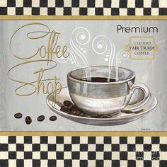 Coffee Painting - Coffee Shoppe 2 by Debbie DeWitt