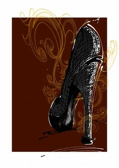 Margarete Gockel Illustration #MargareteGockel #FashionIllustration #Shoes #Armani #HighHeels
