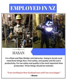 A happy client! I am working in New Zealand now and I am very happy! ~ Hasan