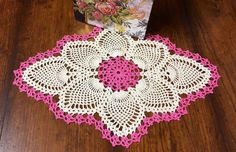 Handmade Pineapple Doily  Crochet Lace by MyVintageSoulByRuth