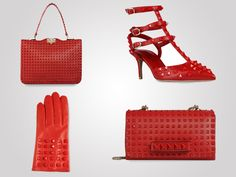 2013 Valentino Rockstud Rouge collection screams red