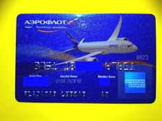 Russia American Express Aeroflot Airlines credit card (expired) | Collectibles, Credit, Charge Cards | eBay!
