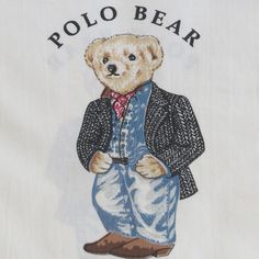 By TonyTheProducer) by GTM Turboo from desktop or your mobile device Teddy Bear Party, Teddy Bears, Black Tweed Jacket, Preppy Monogram, Polo Design, Ralph Lauren Logo, Bear Illustration, Pillowcase Pattern, Red Scarves