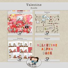 Valentine bundle (All In One) Digital Scrapbooking, Challenges, Events, Kit, News, Design, Design Comics