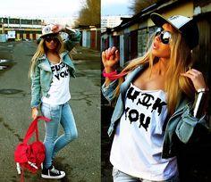 Sheinside T Shirt, Chicnova Bag, Udobuy Jacket