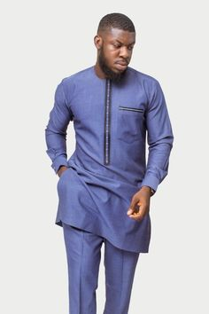 African fashion is available in a wide range of style and design. Whether it is men African fashion or women African fashion, you will notice. African Prom Suit, African Dresses Men, African Attire For Men, African Clothing For Men, African Shirts, African Wear, African Jumpsuit, Nigerian Men Fashion, African Men Fashion