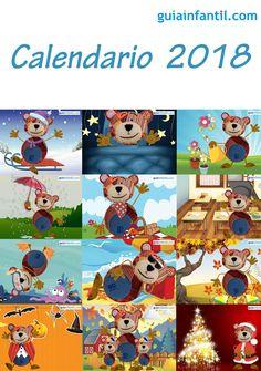 Calendario de 2018 con el Oso Traposo.