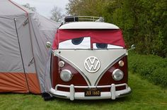 Red VW Bus Eyes http://busjunkies.com/shop/buseyes/ ♠ pinned by http://www.wfpblogs.com/category/toms-blog/