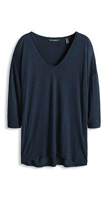 Luxury T-paita silkkiä, V-pääntie