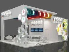 Jbs colágeno on behance exhibition design kurumsal tasarım, Exhibition Stand Design, Trade Show Booth Design, Exhibition Stall, Exhibition Display, Display Design, Pop Display, Design Café, Kiosk Design, Retail Design