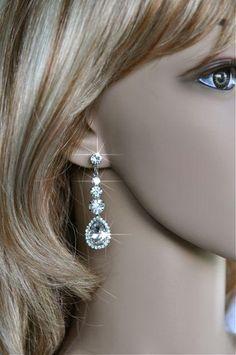 Vintage Inspired Estate Crystal Rhinestone Dangle Earrings (Sparkle-966)   eBay