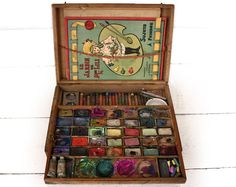 Hey, I found this really awesome Etsy listing at https://www.etsy.com/listing/231549512/antique-french-artist-paint-box-couleurs