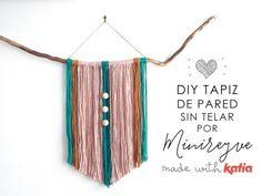 Craft Lovers ♥ Haz un tapiz de pared sin telar por Minireyve…