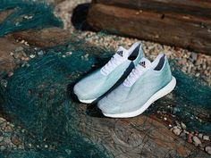 Adidas partners with conservationists to create shoes made out of ocean trash. #design #ecofriendly #sustainability