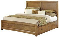 Transitions Queen Panel Bed with 2 Side Storage Units by Vaughan Bassett