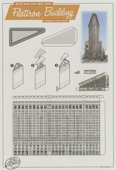 Flatiron Building, New York - Cut Out Postcard by Shook Photos, via Flickr