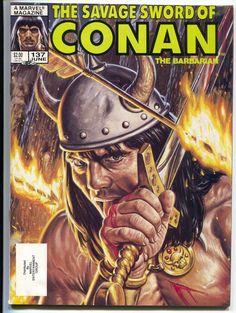 The Savage Sword of Conan Magazine Mixed Pack 187 Fine+ Cond Vintage Comic Books, Vintage Comics, Comic Books Art, Book Art, Conan The Barbarian Comic, Conan O Barbaro, Syd Mead, Conan Comics, Sword And Sorcery