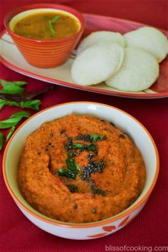 Onion and Tomato Chutney is easy and quick to make.Onion chutney is a superb complement to idli, dosa, and appams.This chutney is hot & spicy, sour & tangy. Tomato Chutney For Idli, Onion Tomato Chutney Recipe, Tamarind Chutney, Veg Recipes, Curry Recipes, Vegetarian Recipes, Healthy Recipes, Japanese Street Food, Thai Street Food