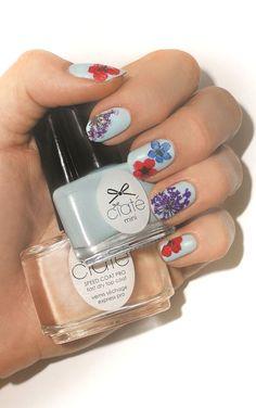 DIY Flower Nail Art + Polish ♥ SO cUte!