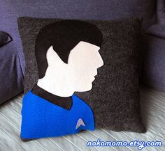 Spock Inspired Pillow Awesome addition to your home by nokomomo, $22.00