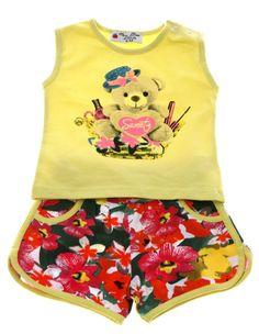 Εβίτα βρεφικό σετ μπλούζα-παντελόνι σορτς «Lovely Bear»  €11,70