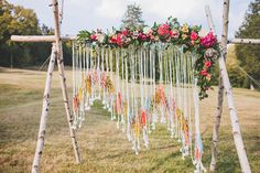 Ruffled - photo by Teale Photography http://ruffledblog.com/colorful-boho-wedding-at-historic-cedarwood · Ruffled