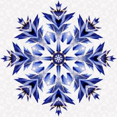 Quilt Square Patterns, Barn Quilt Patterns, Paper Piecing Patterns, Quilting Patterns, Snowflake Quilt, Snowflake Pattern, Snowflakes, Star Quilt Blocks, Star Quilts