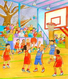 Who is shooting the ball? Art Drawings For Kids, Drawing For Kids, Painting For Kids, Art For Kids, Spanish Classroom, Teaching Spanish, Anthony Lewis, Drawing Competition, Spanish Lesson Plans