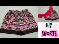 DIY Pantalón short sencillo | Katirya Rodriguez - YouTube Diy Shorts, Boho Shorts, Short Niña, Easy Face Masks, How To Make Shorts, Kawaii Cute, Cute Gifts, Youtube, Stitching