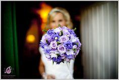 Purple Bridal bouquet, purple wedding