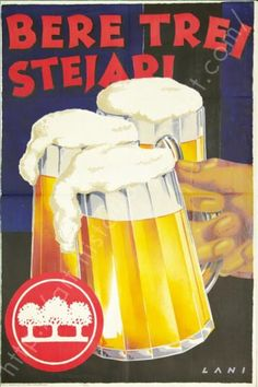 Vintage Ads, Vintage Posters, Trollface Quest, Sibiu Romania, B Food, Old Ads, My Memory, Old Photos, Alcoholic Drinks