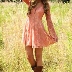 Life Rolls On Dress: Blush