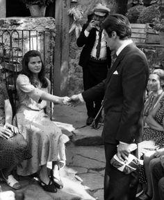 Simonetta Stefanelli and Al Pacino, in The Godfather.