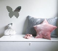 Velvet star cushion in dusty pink by Numero74