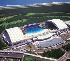 Seagaia Ocean Dome in Miyazaki, Japan... seriously, this is practically ON AN ACTUAL BEACH?