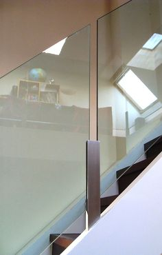 Stainless Steel and glass bannister