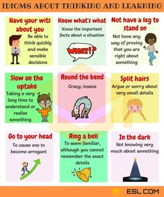 Idioms about Thinking and Learning