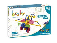 Broks - STEM (+4) Kit, Inventions, Challenges, Packaging, Toys, Products, Learning, Creativity, Baby Born