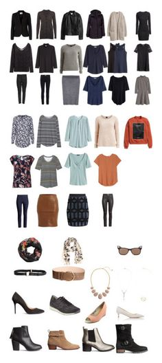 """""""capsule wardrobe spring 2016"""" by lone-haure-norrevang on Polyvore featuring FiveUnits, Jakke, VILA, H&M, Ray-Ban, The People's Movement MOVMT and Prada"""