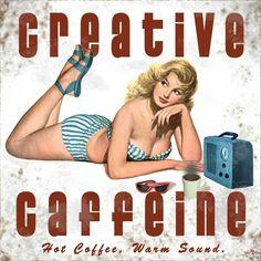 Vintage Coffee Posters   Retro Coffee PinUp Gal!